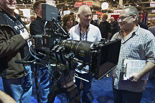Rodney Charters chatting it up with Paul Duclos at NAB 2010