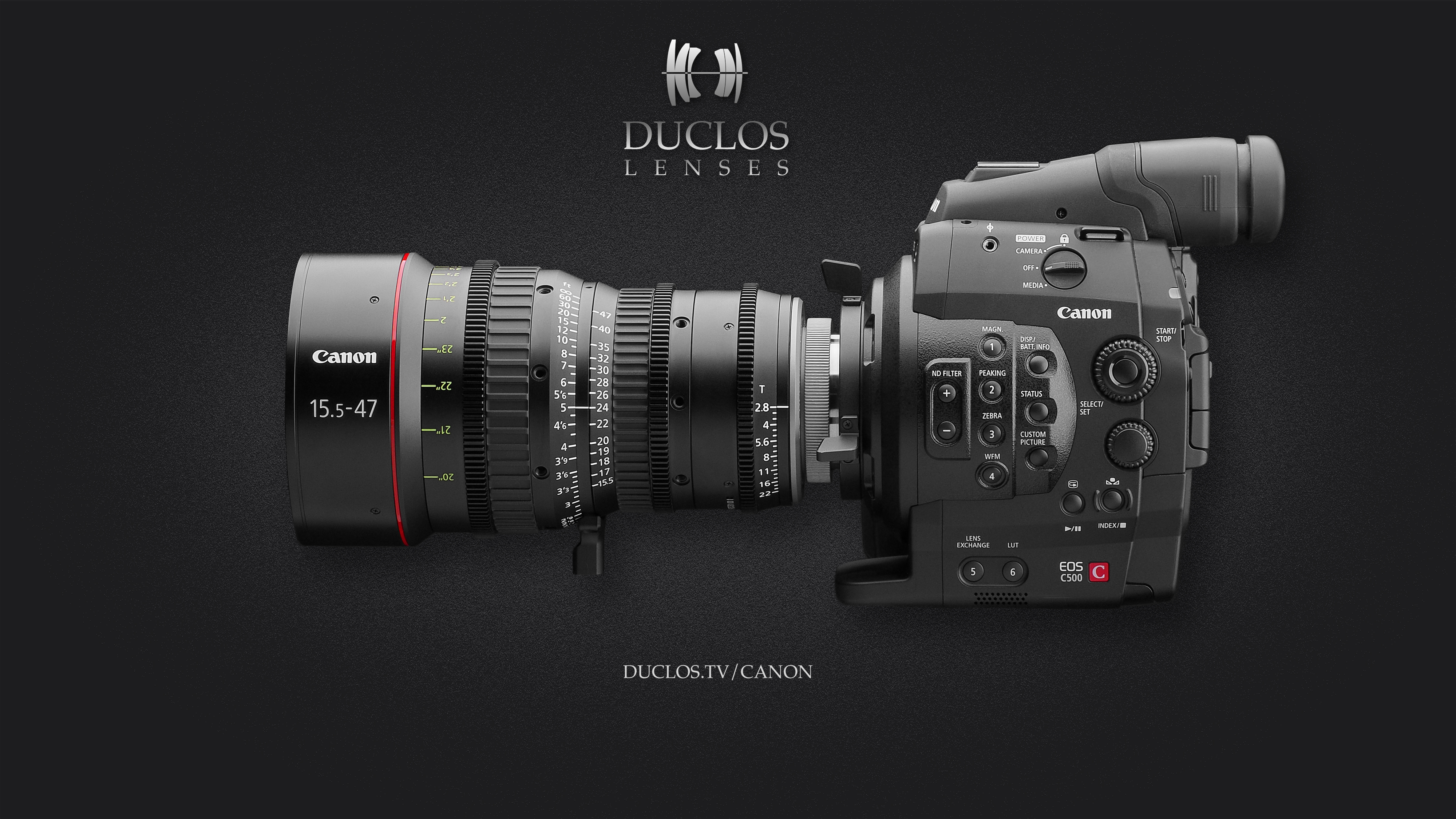 The Canon 15.5-47mm T2.8  featuring the Duclos Lenses Multi-Mount paired perfectly with a Canon C500.