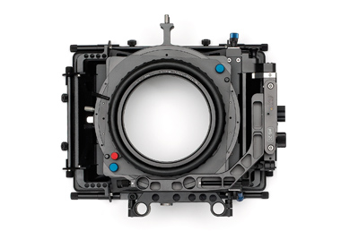 Arri MB-20 II Matte box sample: Note the top pair of 15mm holes (15mm LWS) is centered on the optical center whereas the lower pair (15mm Studio) is clearly offset from the center. Also note the height difference.