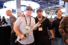 Matthew w/ Phil Holland and THE sword from the Red 8K Forged short. (it's heavy)