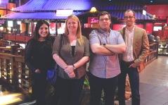 The Duclos Lenses NAB crew, Melissa, Michelle, Matthew, and Alex.