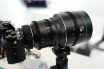 P+S Technik was showing their prototype 35-70mm Anamorphic Zoom.